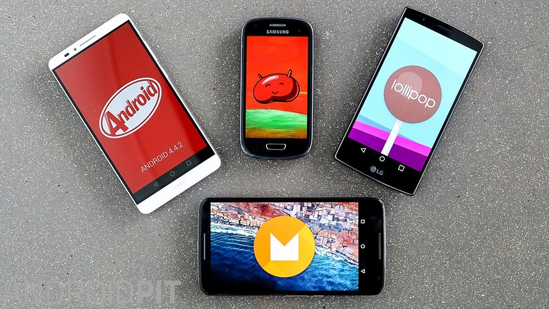 Android M Lollipop Kitkat jellybean 1 11
