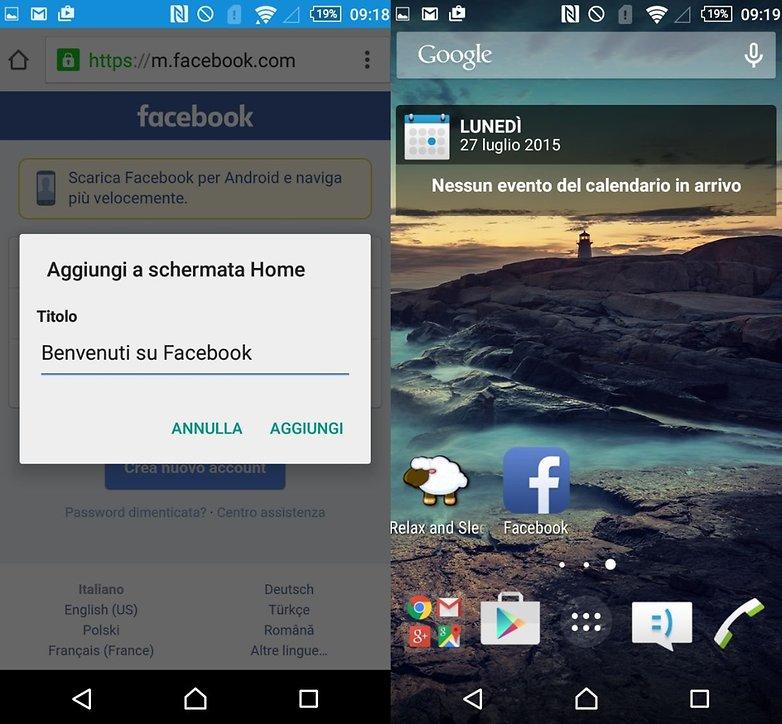 Facebook screenshot ITA