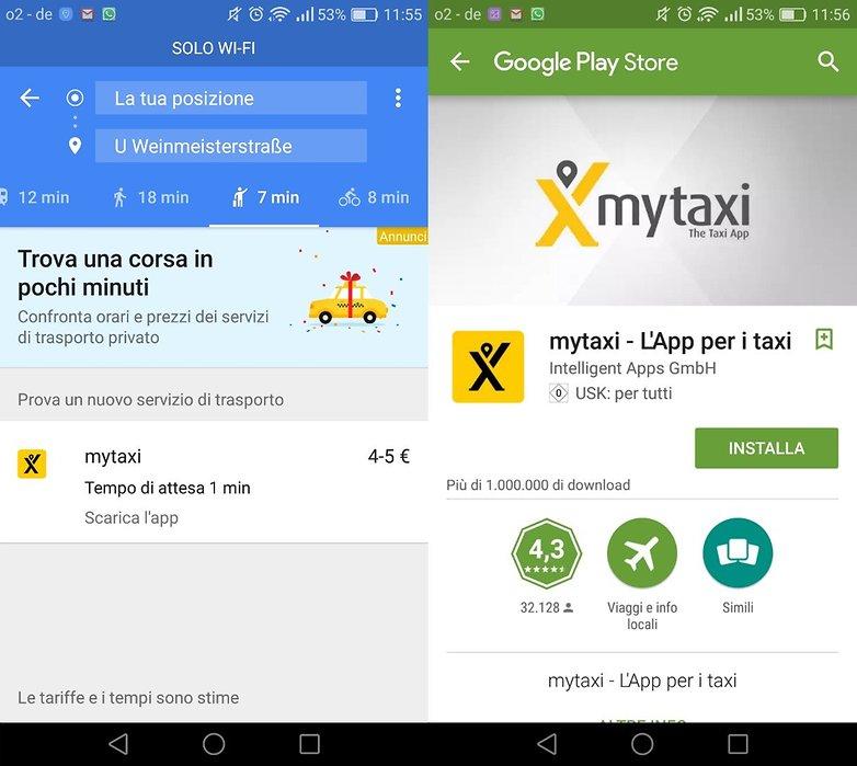 GoogleMaps taxi