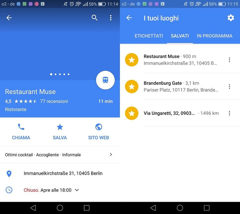 Googlemaps preferiti
