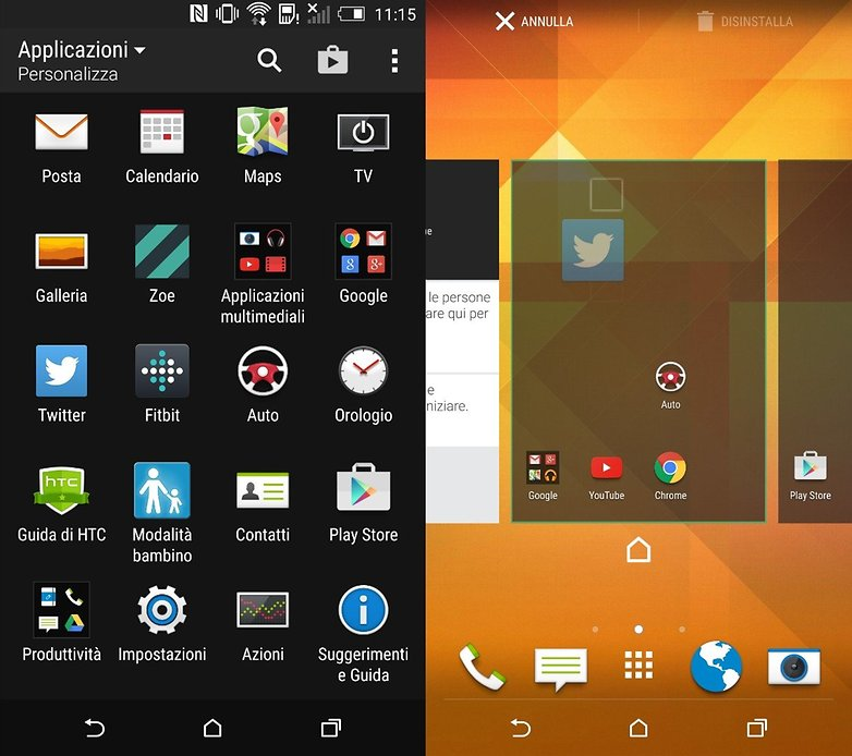 HTCOneM9 appsdrawer
