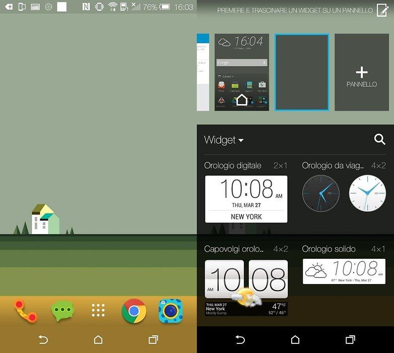 HTCOneM9 widget