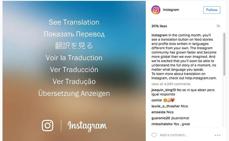 Instagram translator tool