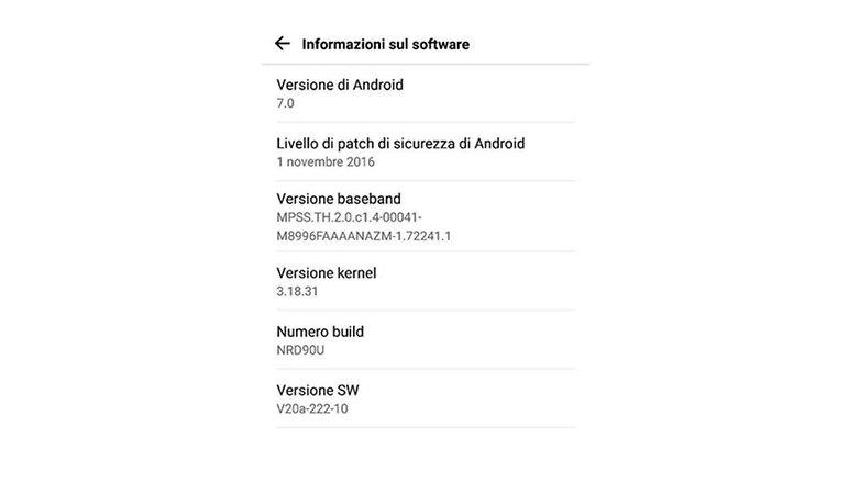 LGG5 nougat screenshot
