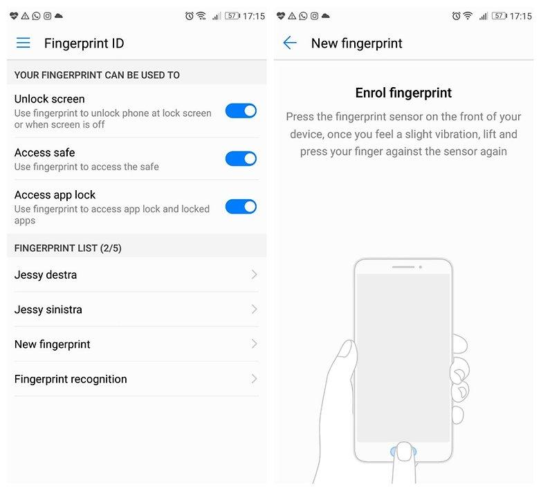 P10 fingerprint EN