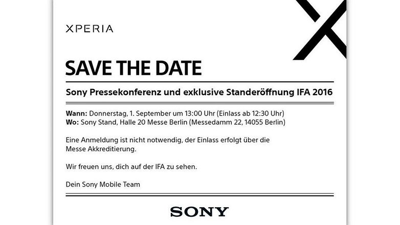 Sony invitation IFA