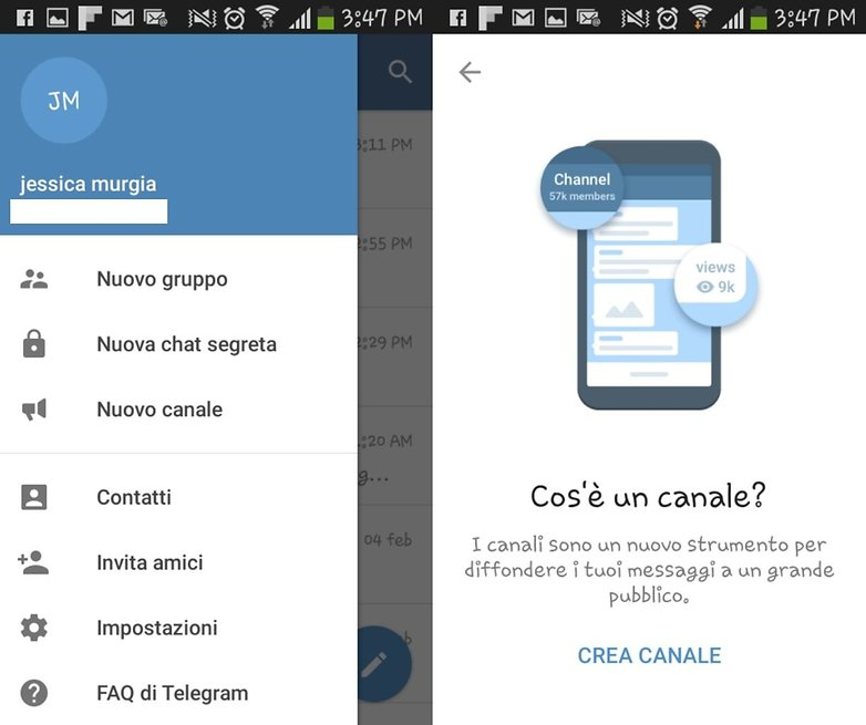 Telegram canali ITA