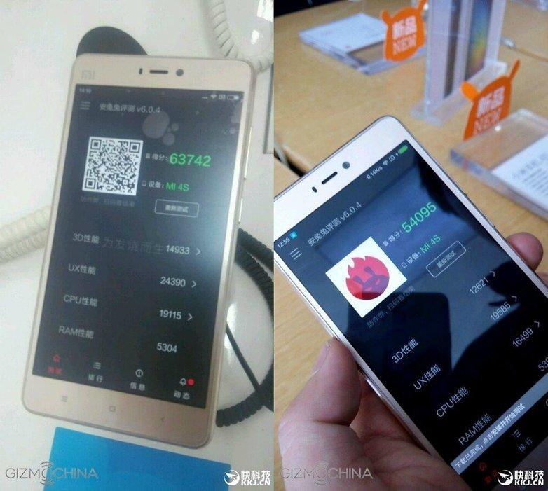 Xiaomi 4S benchmark