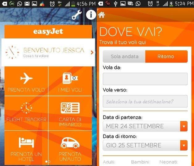 easyjet homepage