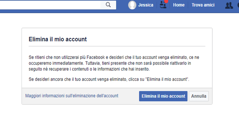 how to delete instagram account made from facebook