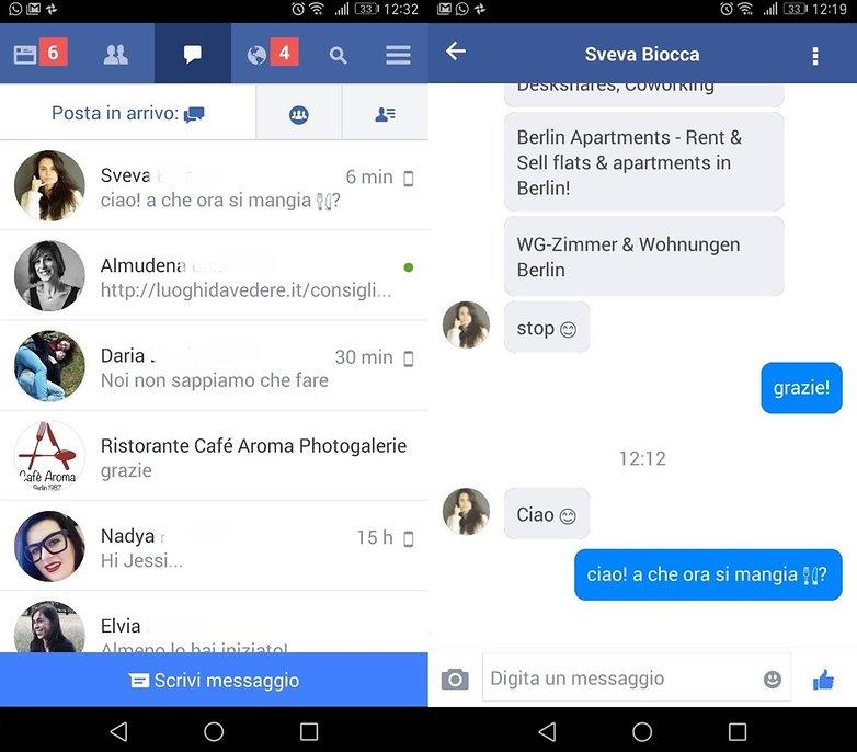 facebook lite msg