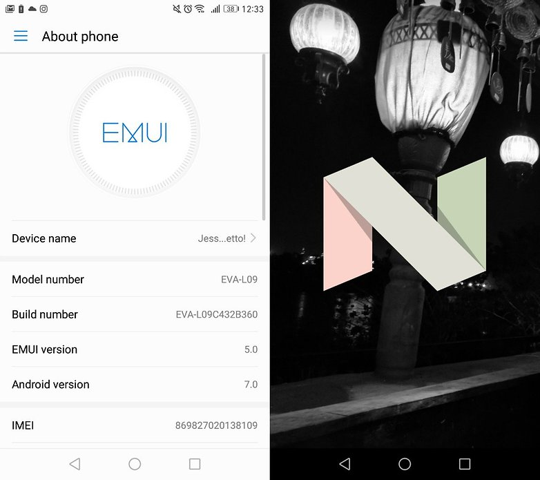 Android nougat and emui 50 on huawei p9 first impressions nougat easteregg ccuart Images