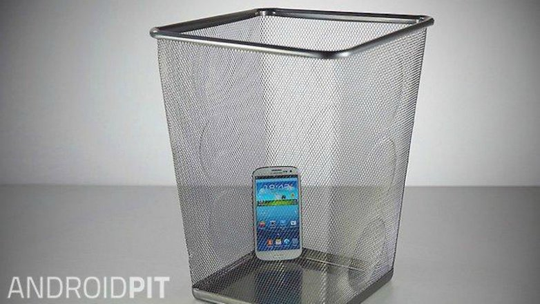 old smartphone bin