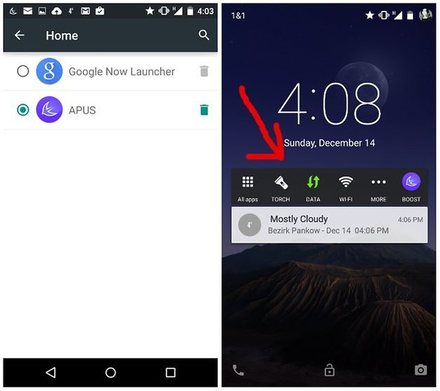 apus launcher toolbar tricks