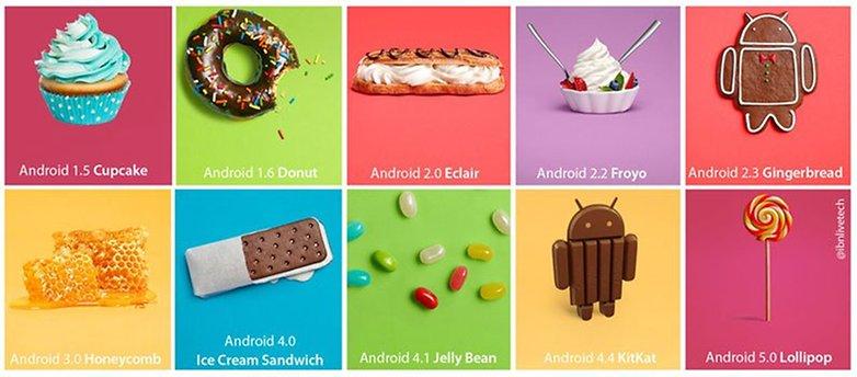 android versiyonlari