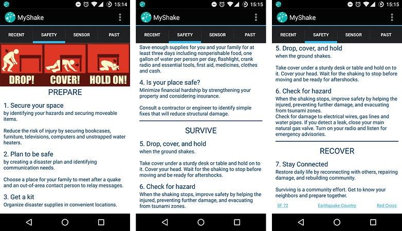 android application my shake detecter tremblement de terre guide de survie image 00