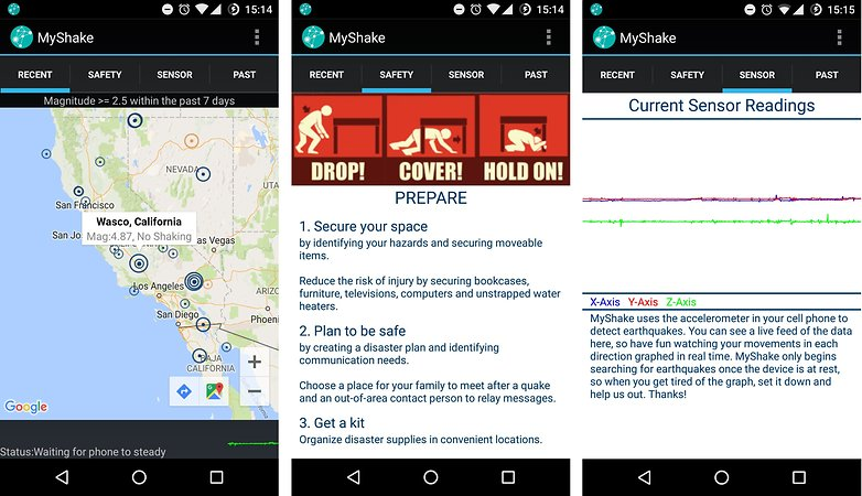 android application my shake detecter tremblement de terre homepage image 00
