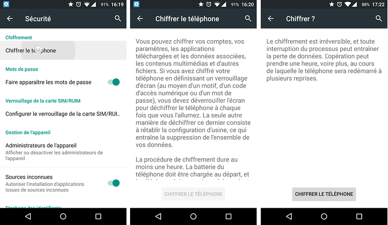 android chiffrer donnees fichiers dossiers android smartphone tablette image 00