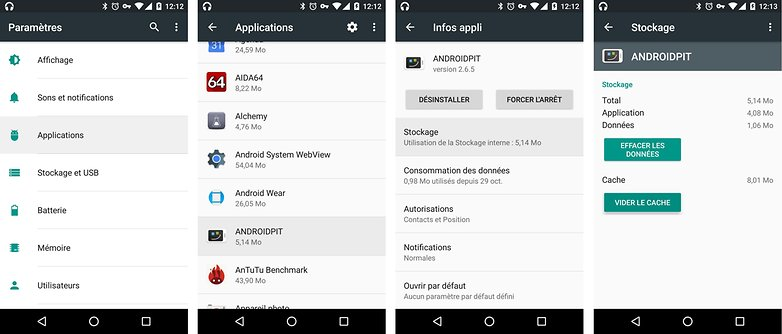 android erreur application cesse fonctionner solutions vider cache image 00