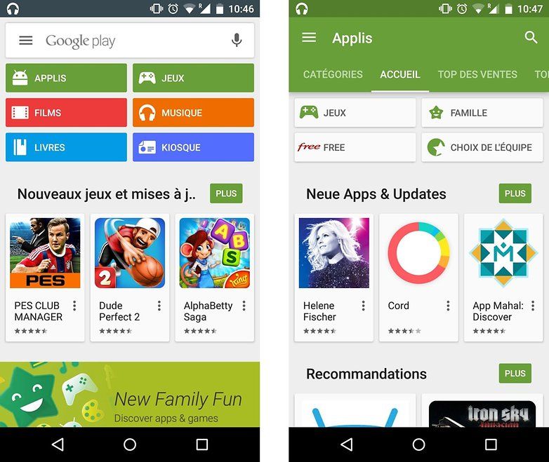 android google play store family famille section images 0
