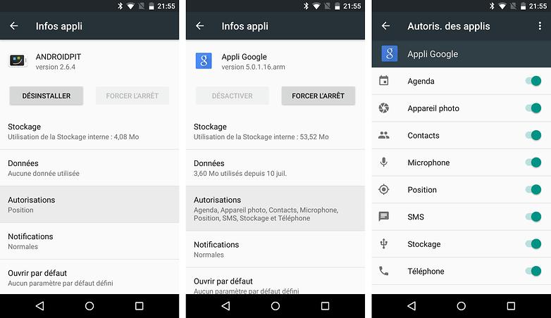 android m date sortie nouveautes fonctionnalites autorisations applications apercu images 00