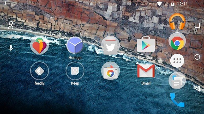 android m date sortie nouveautes fonctionnalites image launcher lanceur applications mode paysage images 01