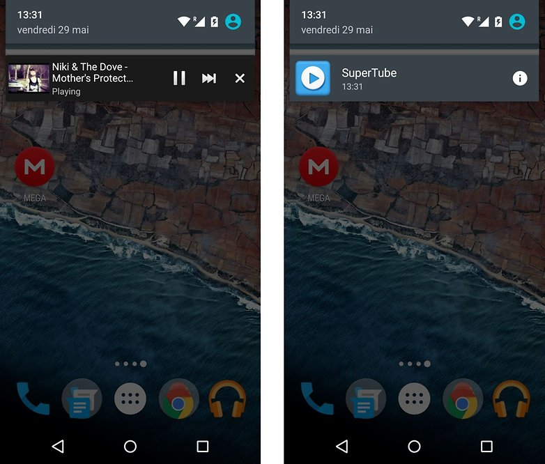 android m personnalisation informations des applications depuis barre de notifications refonte images 01