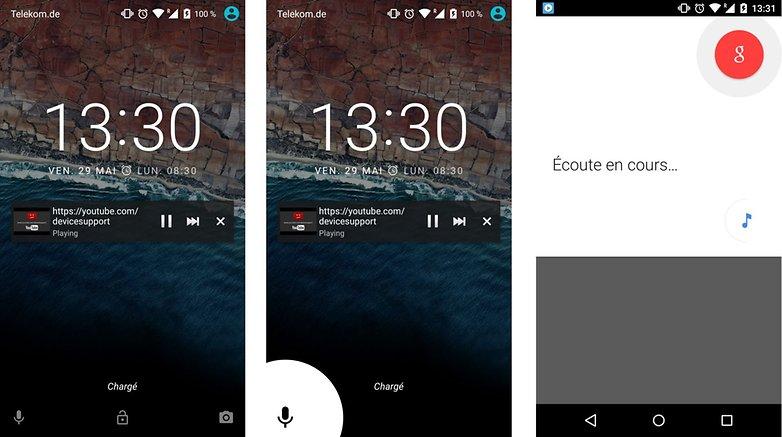 android m personnalisation ouverture directe google now recherche google depuis ecran verrouiller images 01