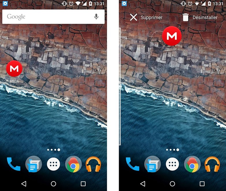android m personnalisation suppression des applications depuis ecran accueil images 01