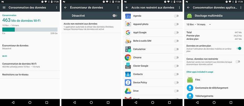 android n date sortie nouveautes fonctionnalites consommation des donnees data arriere plan images 00