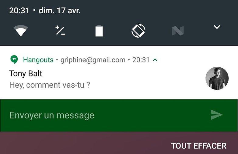 android n date sortie nouveautes fonctionnalites reponse message depuis barre etat notification image 00