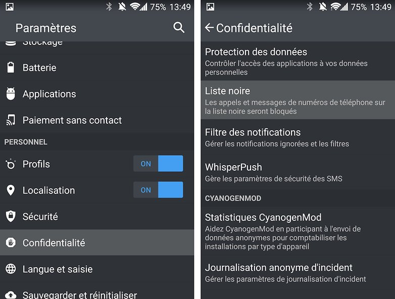 android oneplus one liste noire image 00