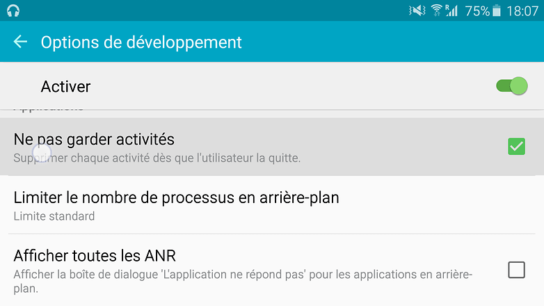 android options developpement ne pas garder activites tony balt image 001