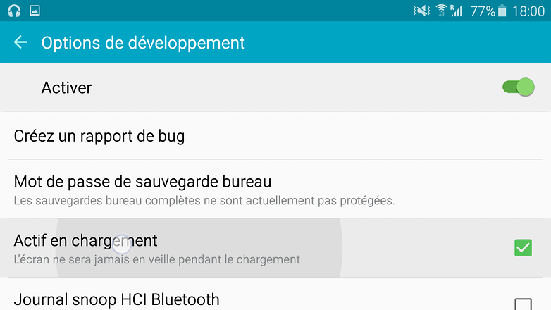 android options developpement reste active chargement tony balt image 0001