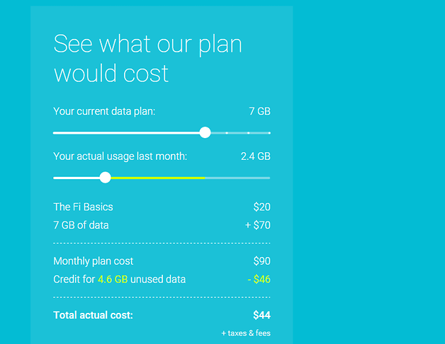 android project fi google prix data donnees mobiles image 02