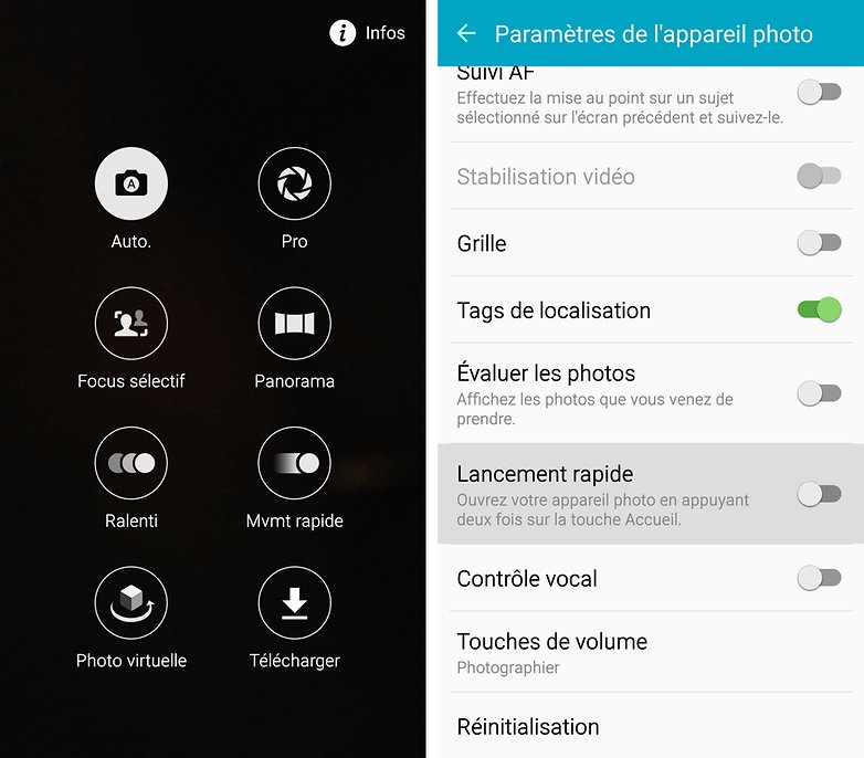 android samsung galaxy s6 edge appareil photo interface logicielle ui image 00