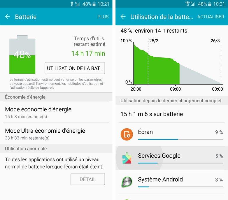 android samsung galaxy s6 edge batterie autonomie 00