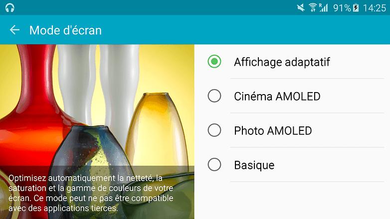 android samsung galaxy s6 edge contraste mode ecran 01