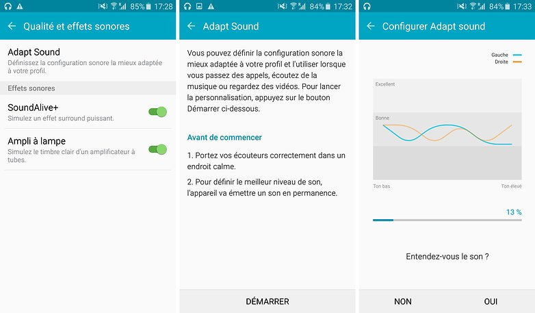 android samsung galaxy s6 edge qualite sonore modes 01