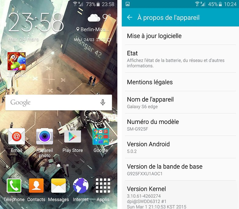 android samsung galaxy s6 edge version android ui interface 01