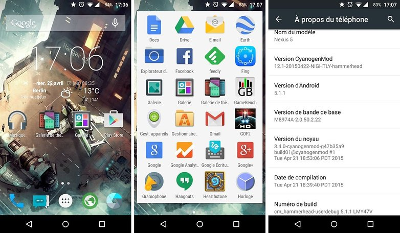 androidpit france google nexus 5 android 5 1 1 lollipop cyanogenmod 12 1 interface logicielle image tony balt 00