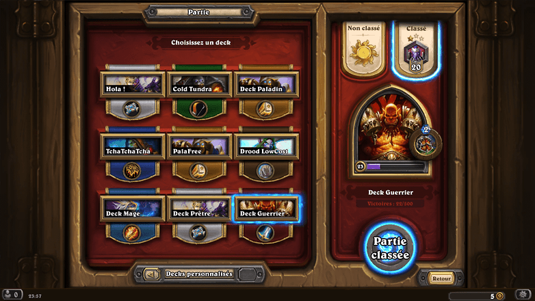 androidpit france hearthstone smartphone android vue pc heros disponibles image 00