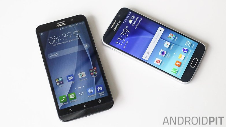 asus zenfone 2 ze551ml vs samsung galaxy s6 sm g920f androidpit france copyright design finition images 00