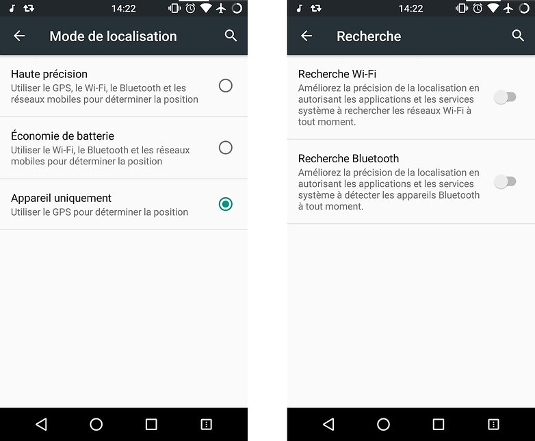 application localisation sur android