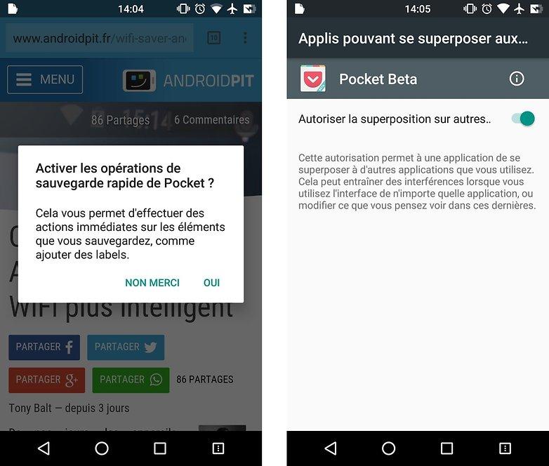 comment enregistrer pages web hors connexion android pocket activation images 00