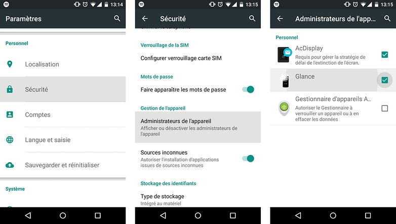 comment installer always on display android impossible desinstaller supprimer adminstrateur appareil options images 00