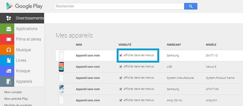 comment supprimer appareils google play store 02