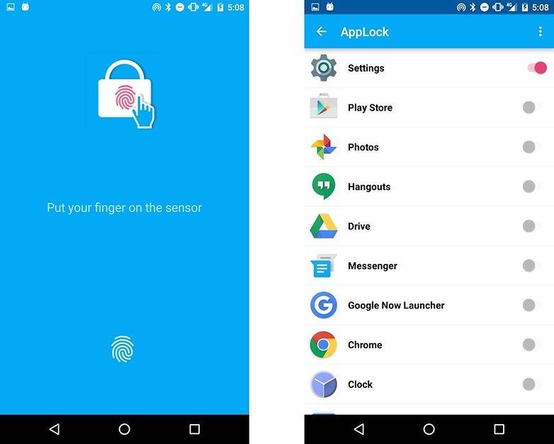 comment verrouiller applications android applock fingerprint images 00