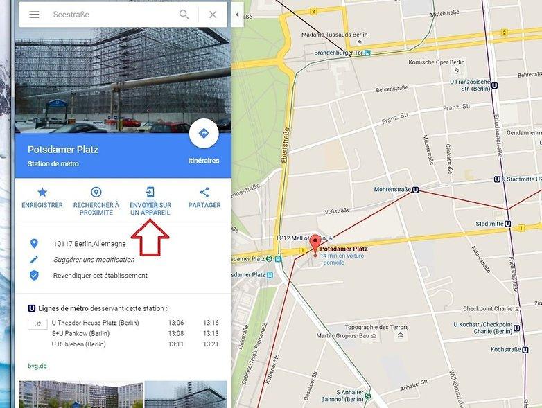 envoyer adresse google maps vers android envoyer sur appareil image 00