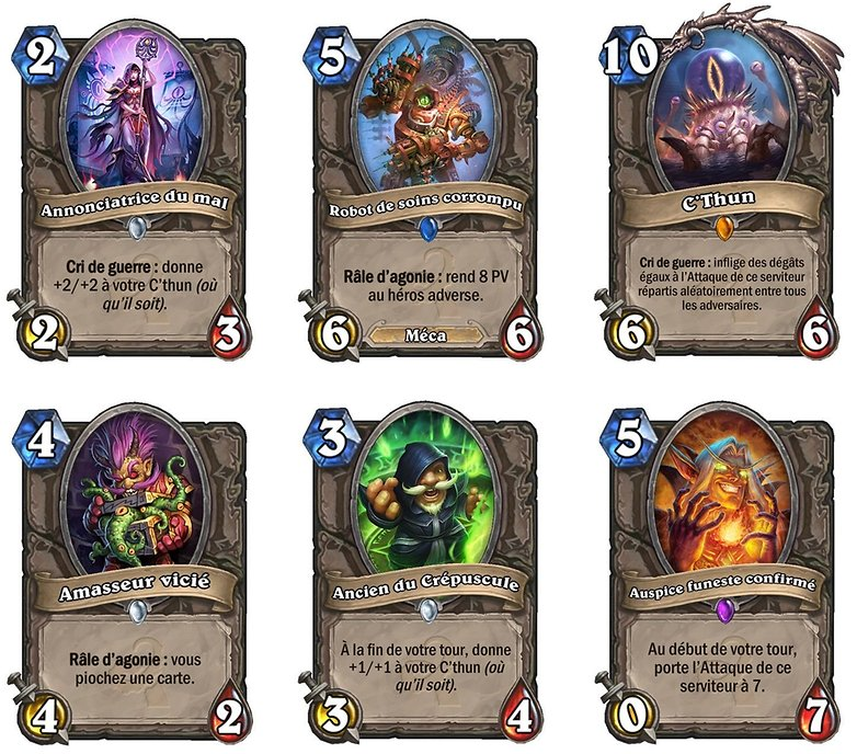 installer hearthstone smartphone android cartes les murmures des dieux tres anciens image 0
